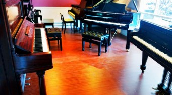 Ribbon Cutting with C.J.'s Pianos