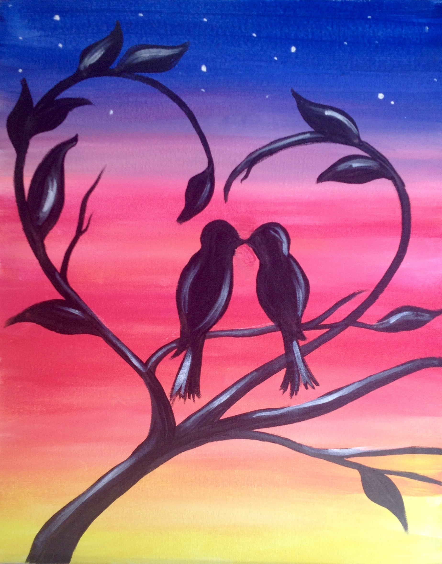 Make your own acrylic painting for Best canvas painting designs