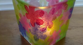 Make a Spring Flower Votive Candle