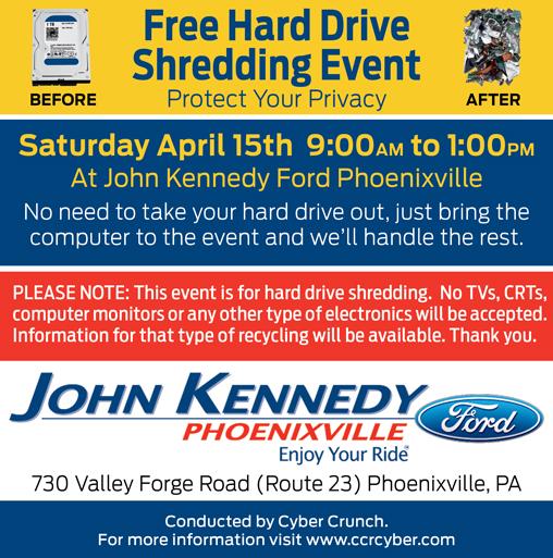 John Kennedy Ford >> John Kennedy Ford Free Hard Drive Shredding Event