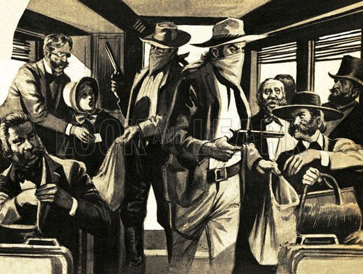 Wilmington &Western Railroad Wild West Train Robbery