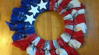 Make a Patriotic Bandana Wreath