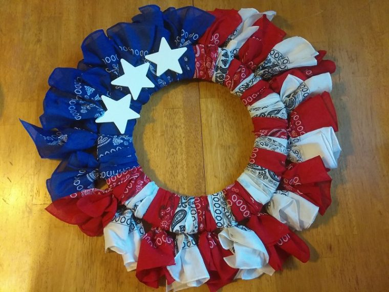 Make a Patriotic Bandana Wreath