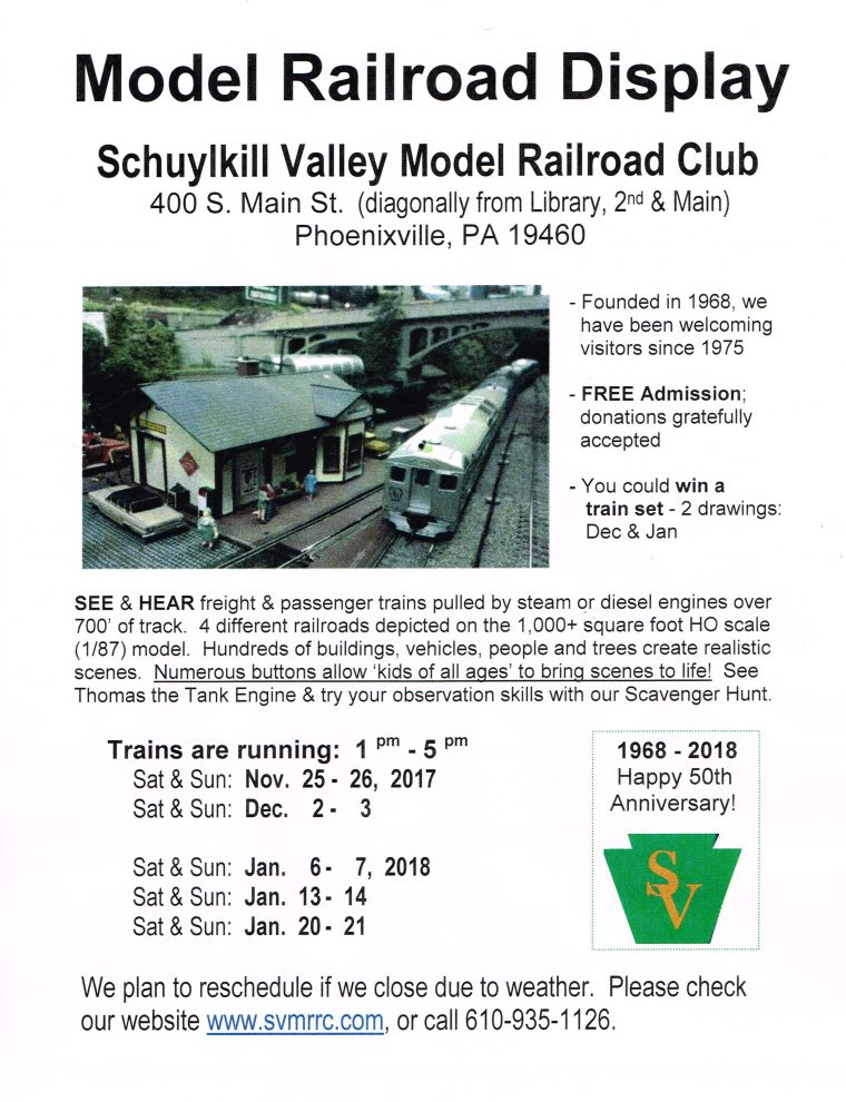 Model Railroad Display – Schuylkill Valley Model Railroad Club welcoming visitors since 1975 – copy
