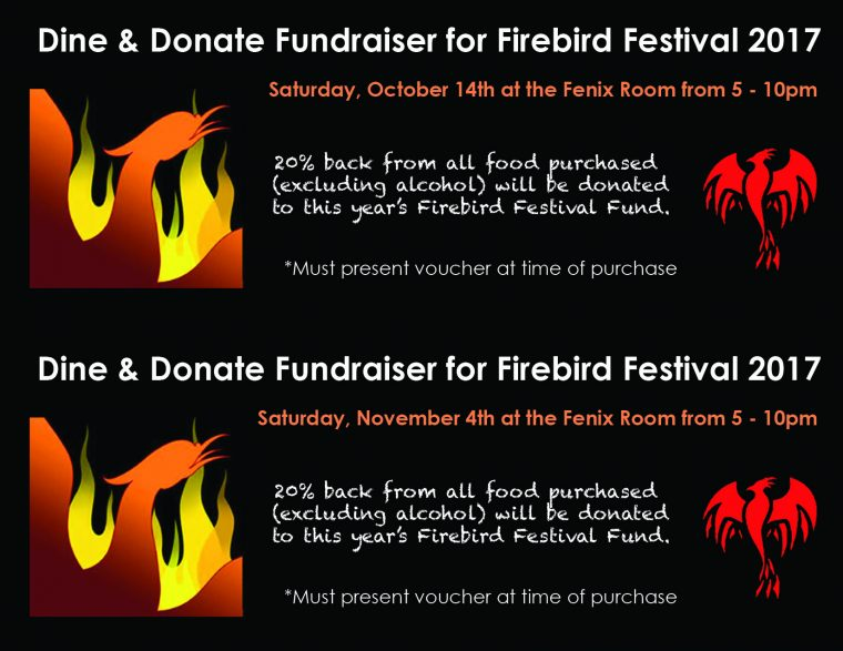 Dine & Donate Fundraiser for Firebird Festival