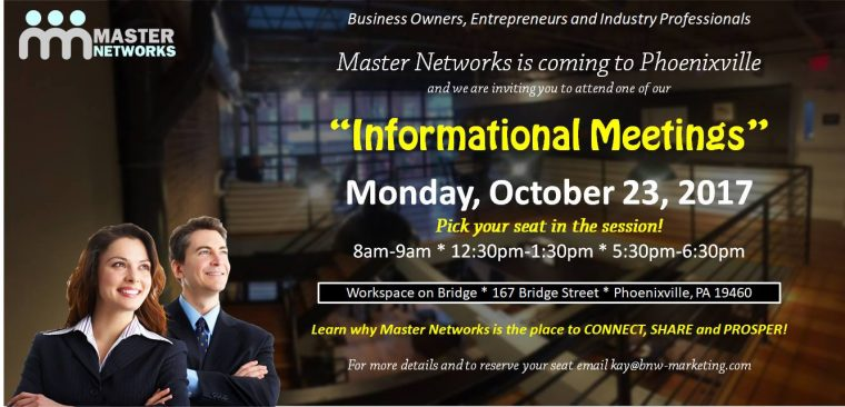 Master Networks Informational Meetings