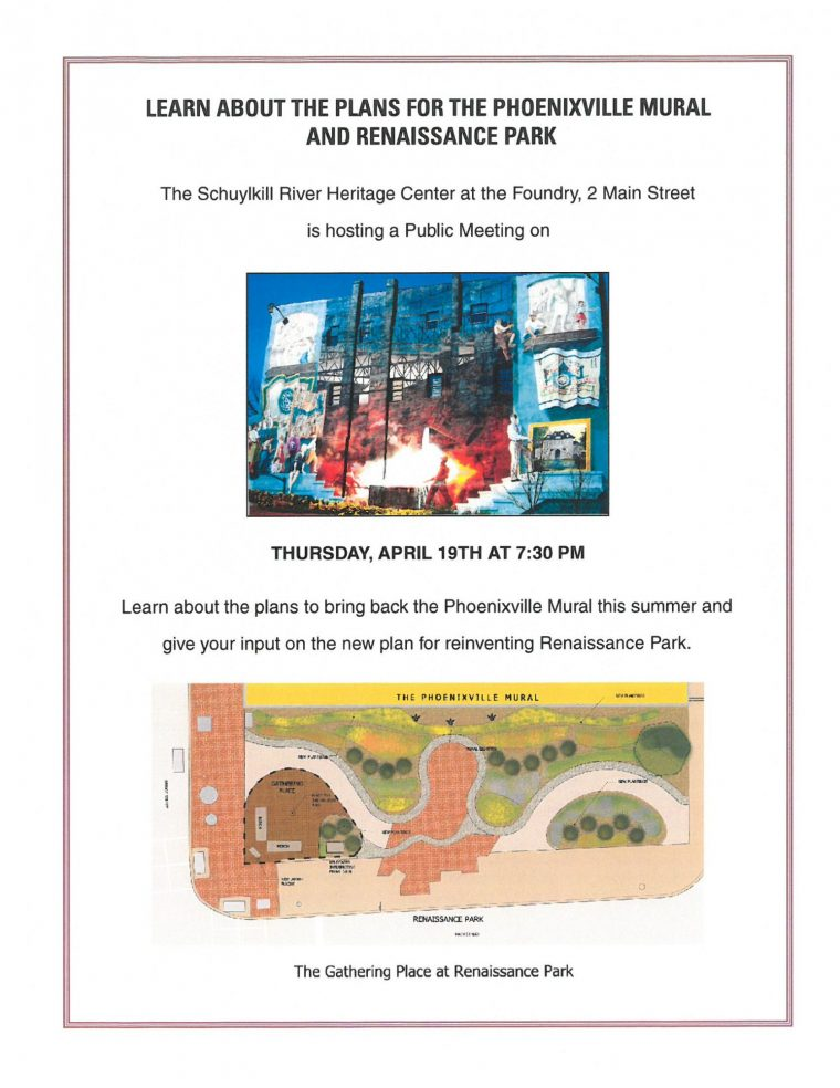 Learn about the plan to bring back the Phoenixville mural to reinvent Renassaince Park.