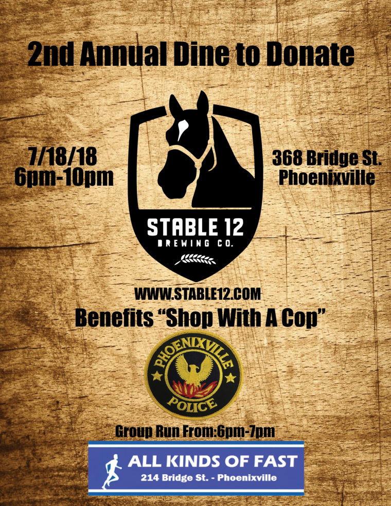 """Phoenixville Police """"shop with a cop"""" dine to donate"""