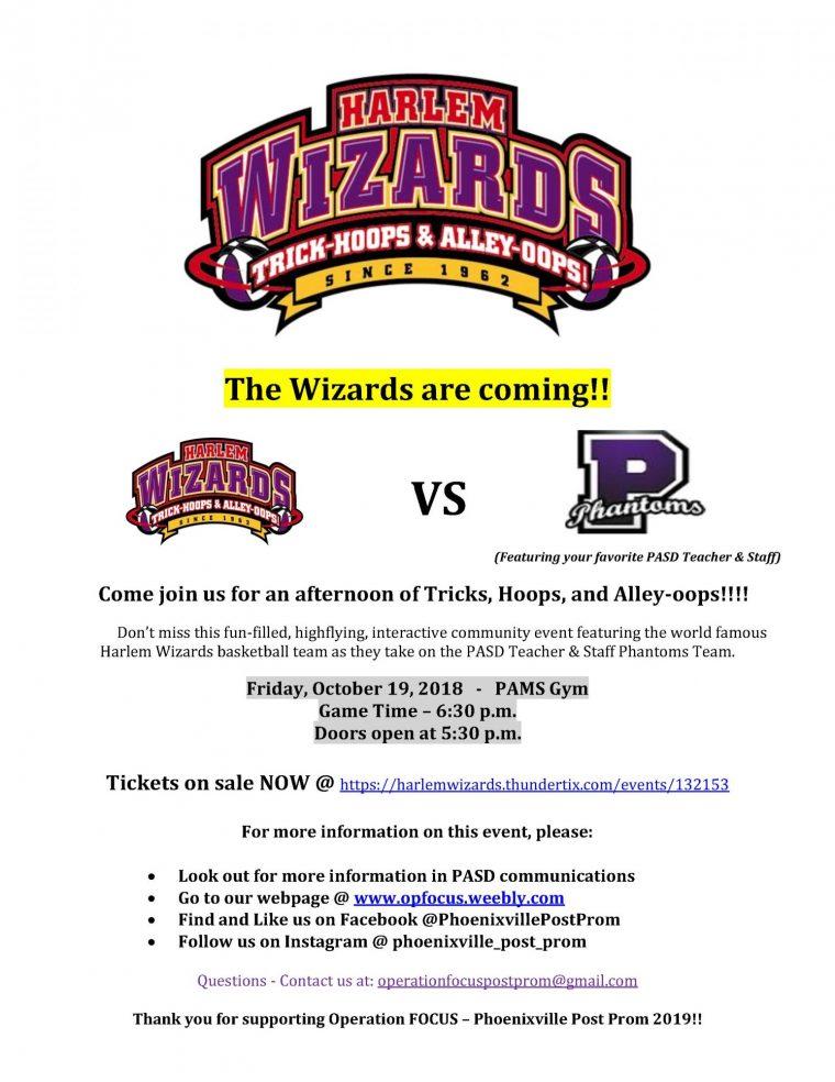 Harlem Wizards v. PASD Phantoms Teachers & Staff