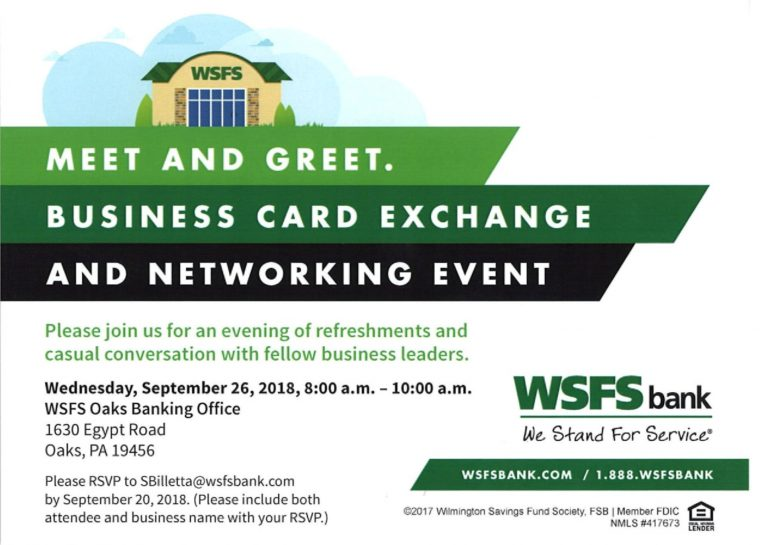 WSFS Bank Networking & Business Card Exchange