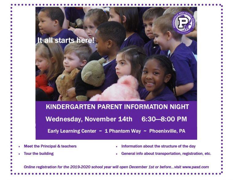 PASD Kindergarten Parent Information Night
