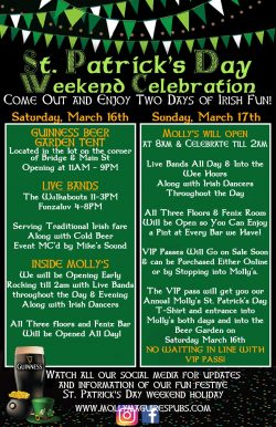 St. Patrick's Day Weekend Celebration!