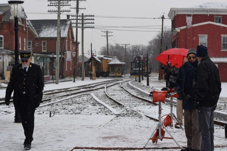 Crews film documentary at Colebrookdale Railroad