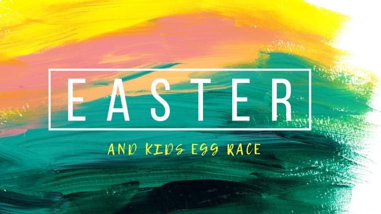 Kids Egg Race & Easter Service